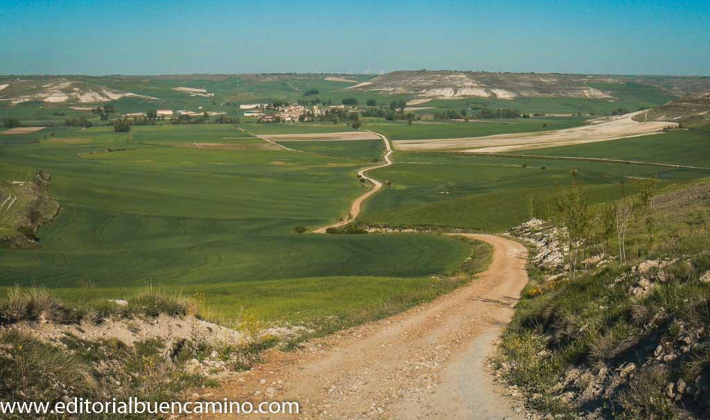 Vista de Hornillos desde la cuesta Matamulos