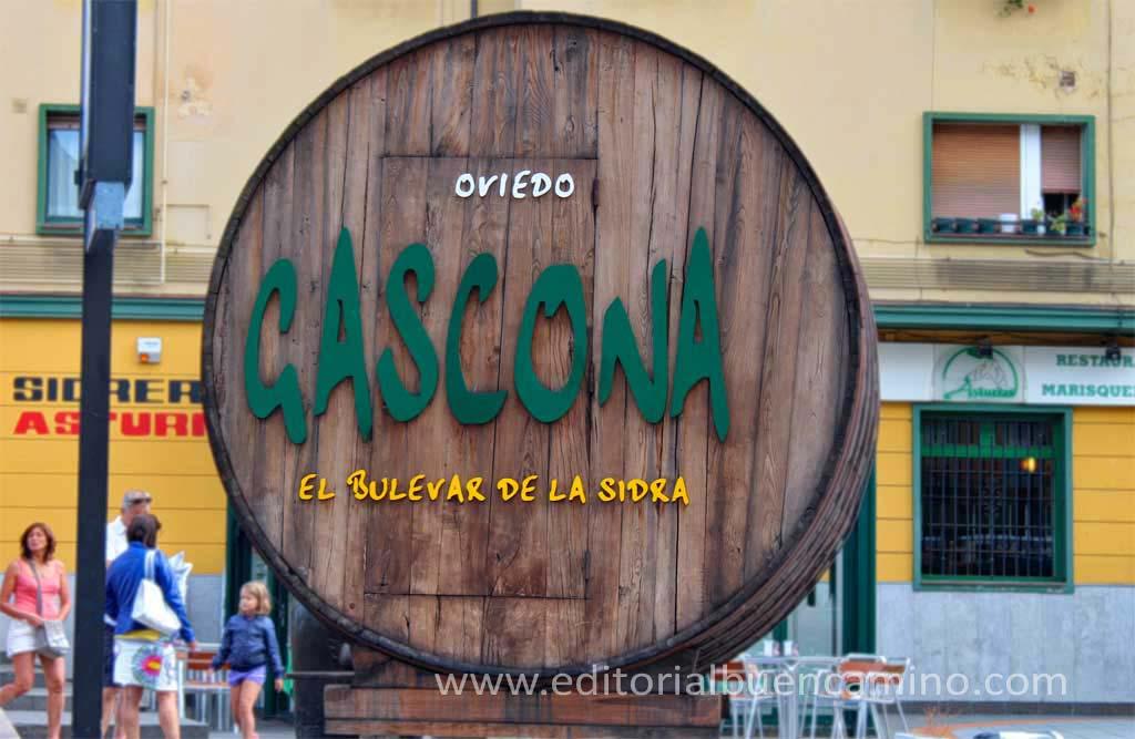 Calle Gascona o el boulevard de la sidra
