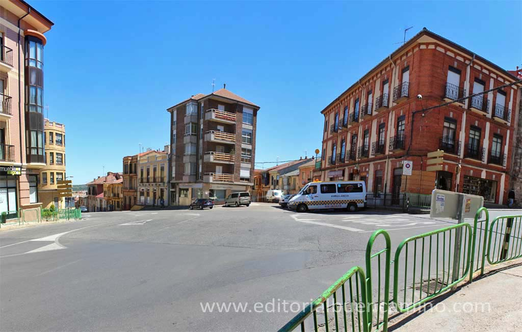 Unión de vías romanas en Astorga