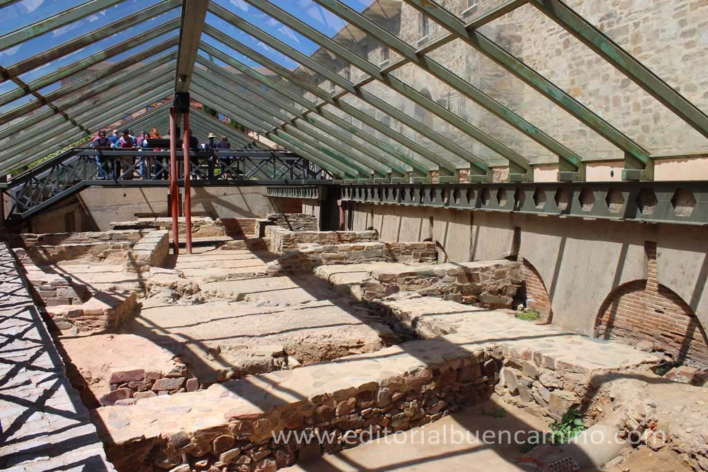 Ruinas romanas musealizadas en Astorga.