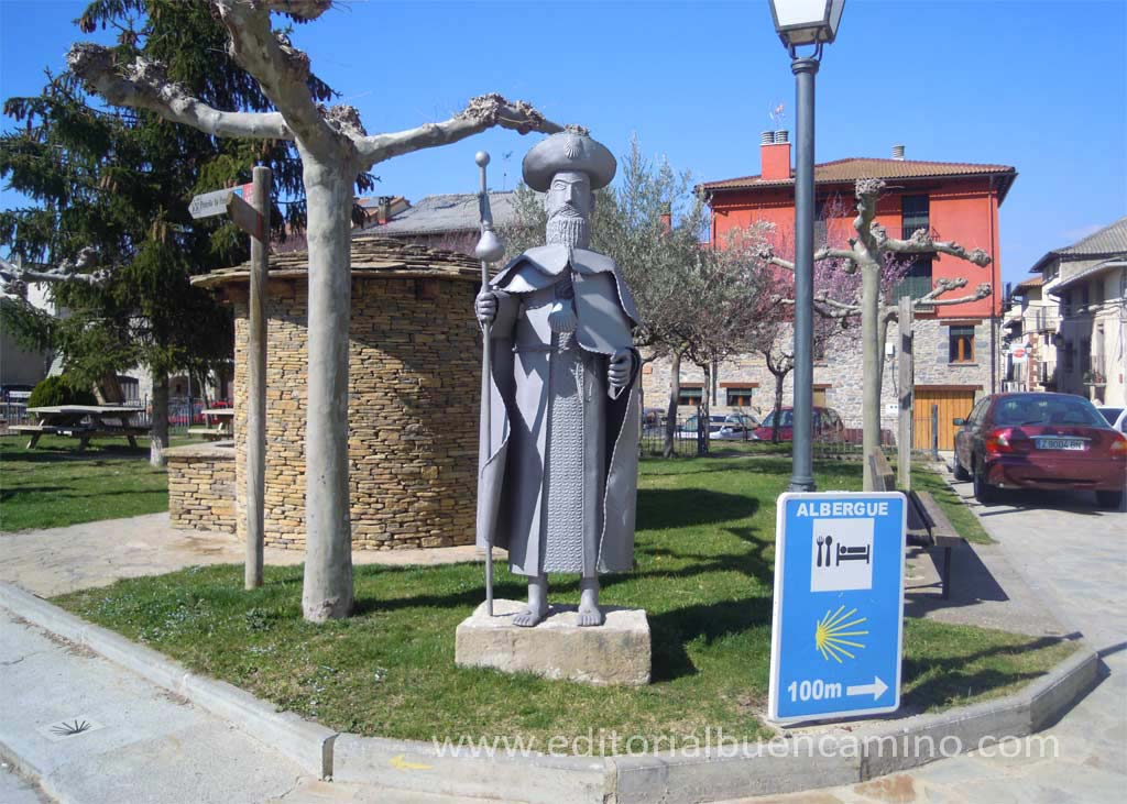 Monumento al peregrino y fuente